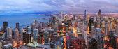 Chicago skyline panorama havadan görünümü — Stok fotoğraf