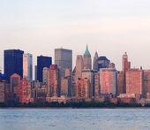 New York City Manhattan downtown skyline — 图库照片