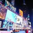 New York City Manhattan Time Square night — Stock Photo