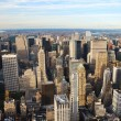 New York City skyline aerial view — Stock Photo