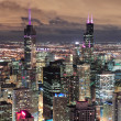 Chicago Urban aerial view at dusk — Stock Photo #9087114