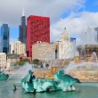 Chicago  Buckingham fountain - Foto de Stock