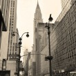 42nd street in New York City Manhattan in black and white style — Stock Photo #9087307