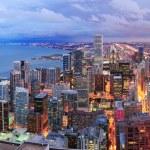 Chicago skyline panorama aerial view — Stock Photo