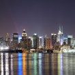 New York City Manhattan midtown skyline at night — Stock Photo #9089608