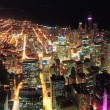 Chicago Night view panorama — Stock Photo