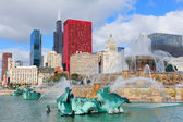 Chicago Buckingham fountain — Stock Photo