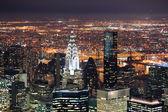 Chrysler Building in Manhattan New York City at night — Stock Photo
