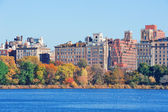 New York City Central Park over lake — Stock Photo