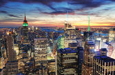 Coucher de soleil de new york city — Photo