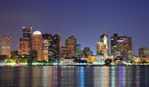 Boston downtown panorama at dusk — Stock fotografie