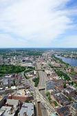 Boston City aerial view — Stock Photo