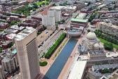Urban city aerial view — Stock Photo