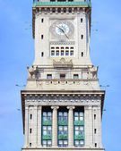 Boston Custom House closeup — Stock Photo