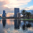 Royalty-Free Stock Photo: Orlando sunset over Lake Eola