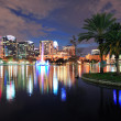 Orlando downtown dusk - Stock Photo
