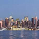 New York City Manhattan over Hudson River — Stock Photo