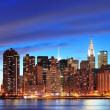 New York City Manhattan midtown at dusk - Stock Photo