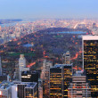 panorama di central park di New york city — Foto Stock