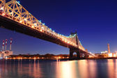Queensboro Bridge night — Stock Photo