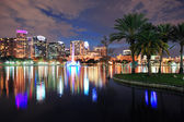 Orlando downtown schemering — Stockfoto