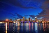 マイアミの夜のシーン — ストック写真
