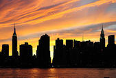 New York City Manhattan sunset panorama — Stock Photo