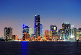 Miami night scene — Stock Photo