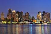 Urban city night scene — Stock Photo