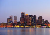 Boston at dusk — Stockfoto