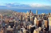 Chicago skyline vid solnedgången — Stockfoto