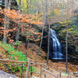 Autumn Waterfall in mountain. — Stock Photo