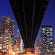 queensboro bridge and manhattan — Stock Photo #9858666