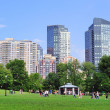 Boston Common public garden — Stock Photo #9858830