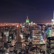 New York City Manhattan skyline at night — Stock Photo #9859378