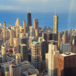 Chicago aerial view — Stock Photo