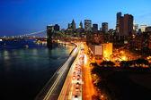 центр города нью-йорка манхэттен — Стоковое фото