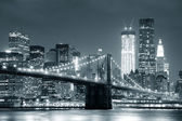 New yorker brooklyn bridge — Stockfoto