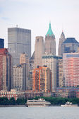 New York City Manhattan downtown skyline — 图库照片