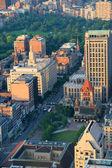 Boston street aerial view — Stock Photo
