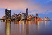 迈阿密夜景 — 图库照片