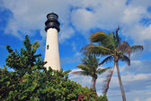 Cape Florida Light lighthouse Miami — Stock Photo