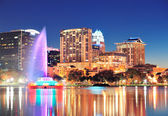 Orlando at night — Stock Photo