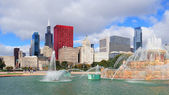Fonte de buckingham de chicago — Foto Stock