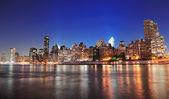New York City Manhattan midtown skyline — Stock Photo