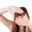 Hands frame — Stock Photo