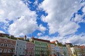 Kale burghausen ve eski şehrini burghausen, Almanya — Stok fotoğraf