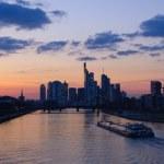 Frankfurt am Main, Germany at dusk — Stock Photo #9394238