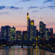 Frankfurt am Main, Germany in the twilight — Stock Photo #9394909