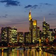 Frankfurt am Main, Germany in the twilight — Stock Photo #9395150